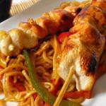 Csirkenyárs zöldséges tésztával recept