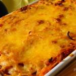 Bolognai spagetti gombával, csőben sütve recept