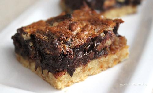 Diós csokis mennyei kocka recept
