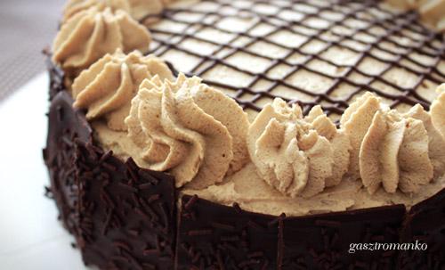 Fehércsokis kávétorta csokilapokkal recept