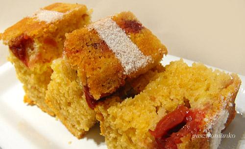 Meggyes kavart sütemény recept