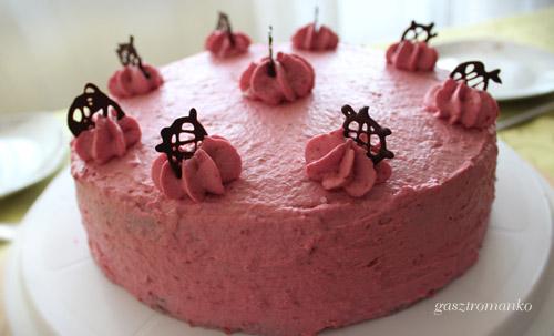 Málnakrém torta recept