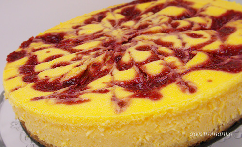 Málnaörvényes sajttorta recept
