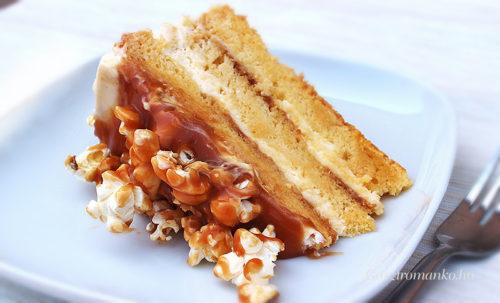 Mascarpones sóskaramellás meztelen torta recept