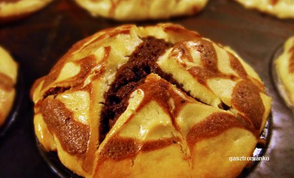 Philadelphia sajtos márványos muffin recept