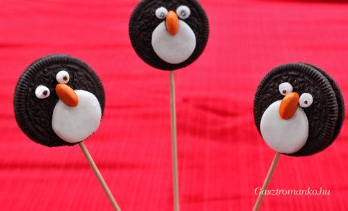 Pingvin cakepop recept