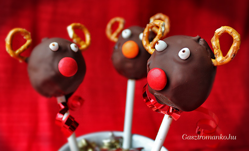 Rénszarvas cake pop recept