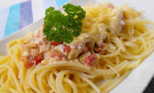 Spaghetti carbonara recept