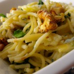 Spenótos-gombás spagetti csőben sütve recept