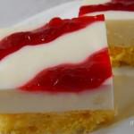 Joghurtos szelet szederzselével recept