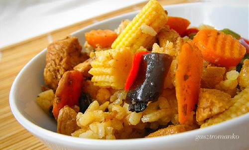 Zöldséges rizs recept