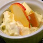 Almás sajtsaláta recept