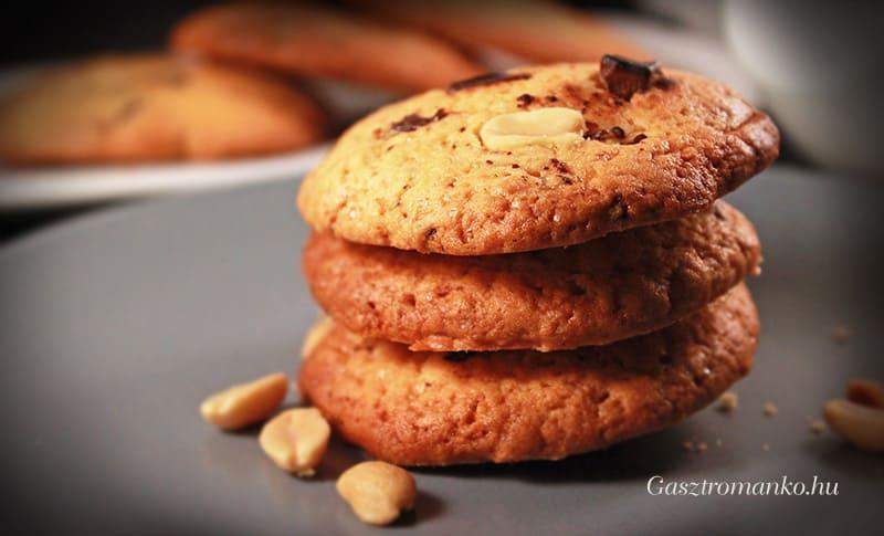 Amerikai mogyorós csokis keksz recept
