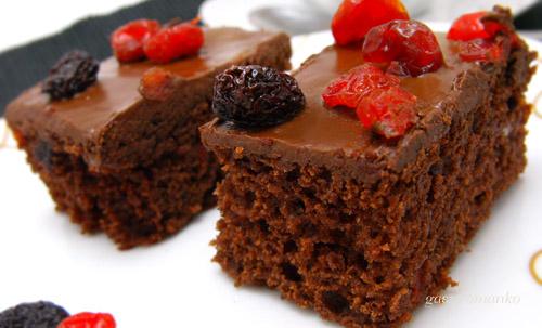 Cseresznyés csokis szelet recept