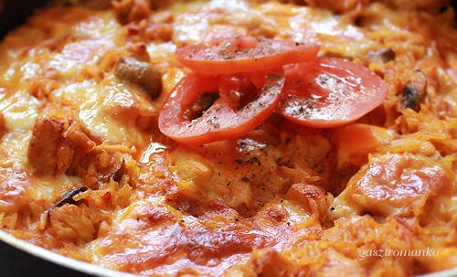 Csirkés-gombás sült rizs recept
