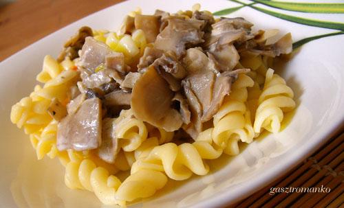 Gombás tészta recept