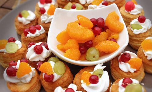 Gyümölcsös tejszínes falatok recept