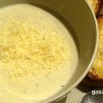 Hagymás sajtleves Mankómódra recept