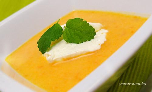 Hideg sárgabarack krémleves recept