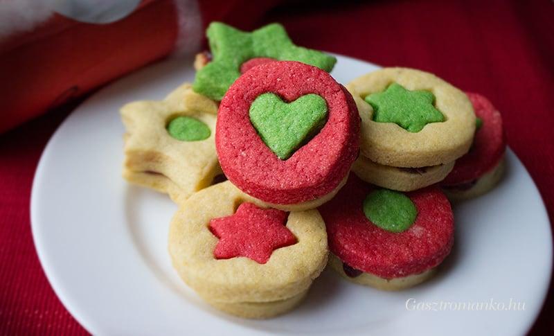 Karácsonyi színes keksz recept
