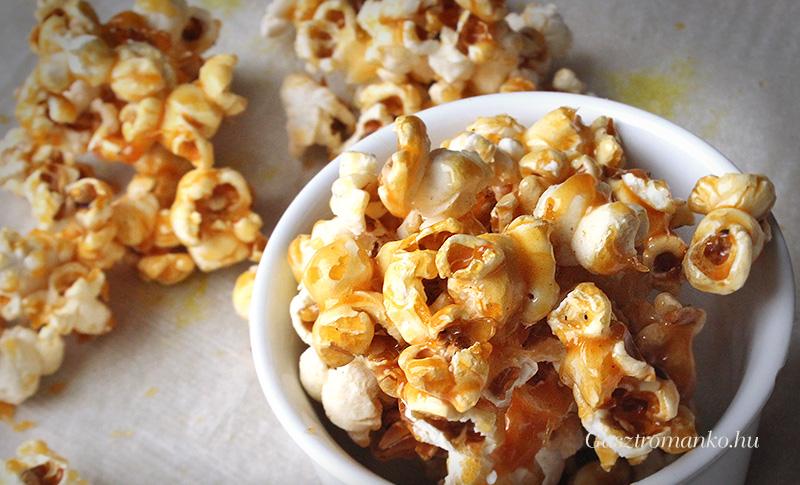 Karamellás popcorn recept