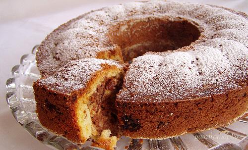 Csokis mazsolás kuglóf recept