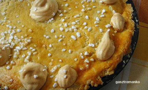 Málnás meggyes pitetorta recept