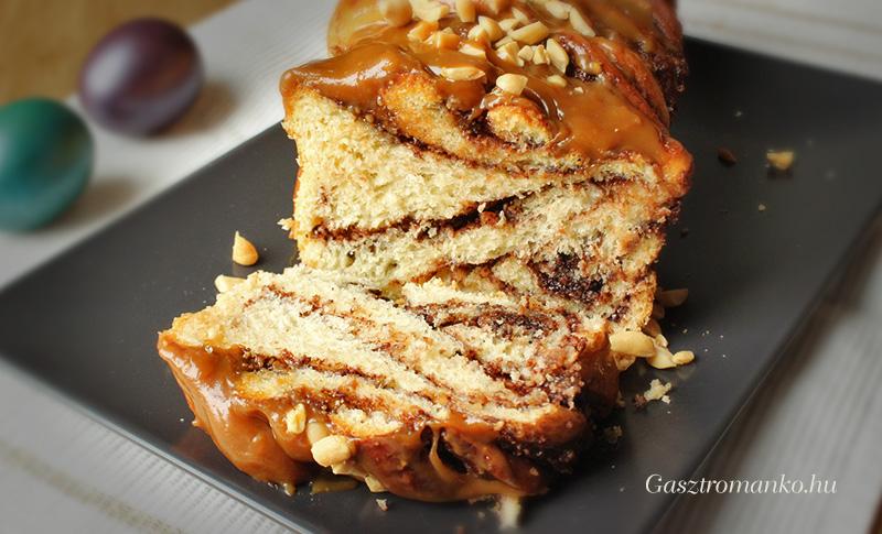 Mogyorós karamellás babka recept