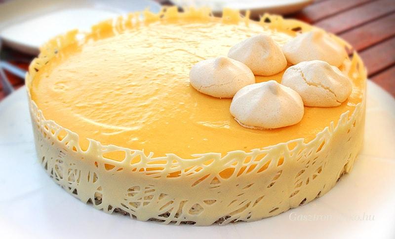 Narancsos-mákos túrómousse torta recept