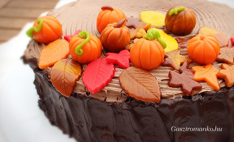 Őszi szülinapi torta recept
