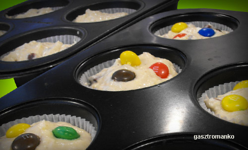 M&Ms muffin recept
