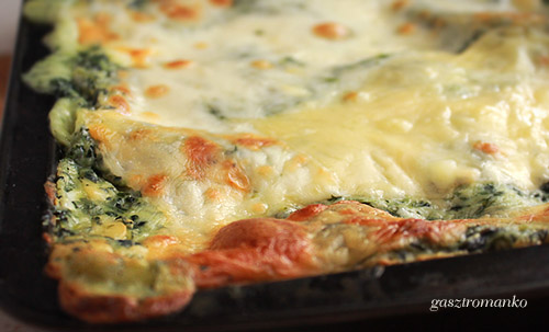 Spenótos lasagne recept