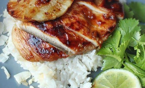 Teriyaki csirkemell kókuszos rizzsel recept